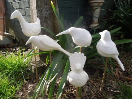 Carved New Zealand Native Birds